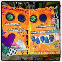 "@jennzich1012's photo: ""My most recent art journal entry"