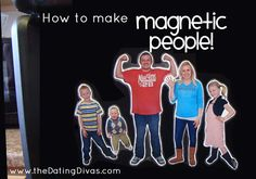 Learn how to make MAGNETIC PEOPLE to hang on your fridge, calendar, or magnet board! www.TheDatingDivas.com #magneticpeople #familyfun #crafts