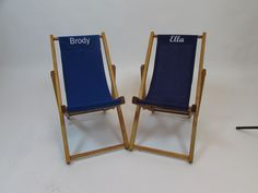 Kids Folding Sling Chair - Personalization Available - Kid's Folding Chairs