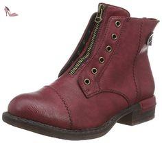 Rieker  90063, Bottes Classics de hauteur moyenne, doublure chaude femmes - Rouge - Rot (wine/schoko / 35), 39 EU - Chaussures rieker (*Partner-Link)