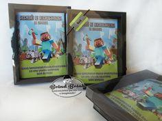 Revista Colorir em Caixa Luxo Minecraft - brindbrink
