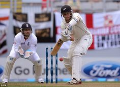 NZ Black Caps, March 2013 // Peter Fulton (batting) made his first Test century, v. England (ended in draw)