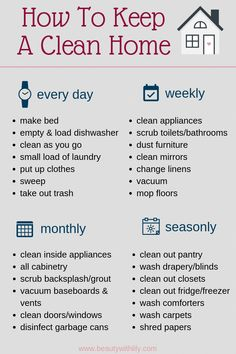 How To Keep A Clean Home declutter How To Keep A Clean Home // Habits of People.How To Keep A Clean Home declutter How To Keep A Clean Home // Habits of People Who Always Have A Clean Home // Cleaning Tips & Tricks // Cleaning Hacks House Cleaning Checklist, Household Cleaning Tips, Diy Cleaning Products, Cleaning Hacks, Clean House Schedule, Daily Routine Schedule, New House Checklist, Deep Cleaning Tips, Apartment Cleaning Schedule