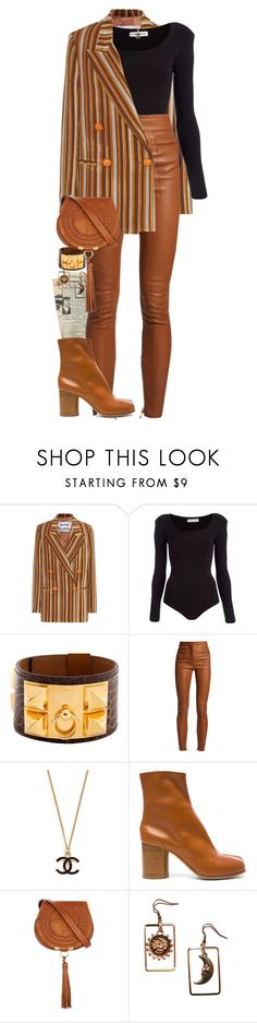 """You can always count on a murderer for a fancy prose style."" by quiche ❤ liked on Polyvore featuring Acne Studios, Body Editions, Hermès, Balmain, Maison Margiela and Chloé"