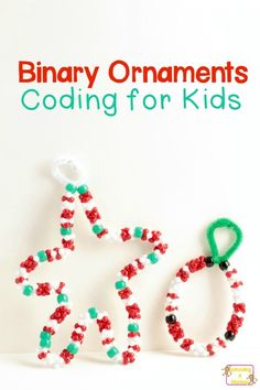 You won't believe how fun it is to make Christmas ornaments with words written in binary. Christmas coding with kids is the perfect technology activity!