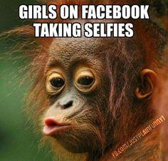 Girls on Facebook taking selfies!