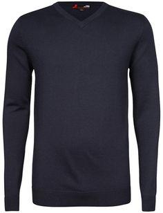 Klassikeren og favoritten! Stilig genser i deilig og myk Pima cotton. Blå
