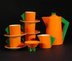 Clarice Cliff Bizarre Conical coffee set