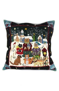 New World Arts Cats Family Accent Pillow available at #Nordstrom $199.00