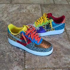 Nike Shoes Air Force, Nike Air Force Ones, Air Force 1, Sneakers Fashion, Sneakers Nike, Jordan Shoes Girls, Painted Sneakers, Nike Design, Custom Sneakers