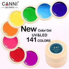 #50618 New 2016 CANNI Brand Nail Art Design141 Color UV LED Soak Off Paint Color Gel Ink UV Gel For Nails