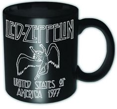 LED ZEPPELIN 1977 USA Tea Coffee Mug Official Band Merch Ceramic New Boxed