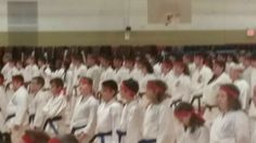 Dec 2014 shiai- students lined up to bow in