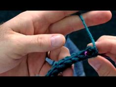 The Siberian Stitch - another way to crochet, makes a thicker fabric