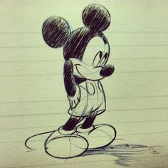 drawing, mickey, and disney image Mickey Mouse Kunst, Mickey Mouse Drawings, Mickey Mouse Wallpaper, Mickey Mouse Cartoon, Mickey Mouse And Friends, Disney Wallpaper, Mickey Mouse Sketch, Mickey Tattoo, Disney Tattoos