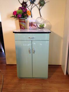 vintage metal utility cabinet with enamel top drawer and door ebay