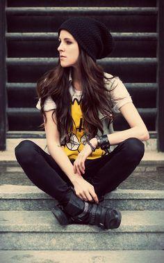 Shop this look on Kaleidoscope (shirt, boots, hat)  http://kalei.do/WjZ3hn5XQOWk1iui