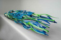 Speeding Sculpture: The Art of Dennis Hoyt - Motorsport Retro Hippie Car, Aircraft Design, Automotive Design, Artist At Work, Sculpting, Sculptures, Illustration Art, Retro, Creative