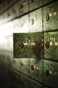 Bergwerk Locker by Mondorama - Abandoned safety deposit boxes Story Inspiration, Writing Inspiration, Character Inspiration, Abandoned Houses, Abandoned Places, Branding And Packaging, Deposit Box, Letters And Numbers, Photos