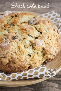 This sweet Irish soda bread is crisp on the outside, soft and tender on the inside, and super delicious! by pansy Irish Desserts, Irish Recipes, Irish Meals, Asian Desserts, Bread Recipes, Baking Recipes, Muffin Recipes, Breakfast Recipes, Irish Soda Bread Recipe