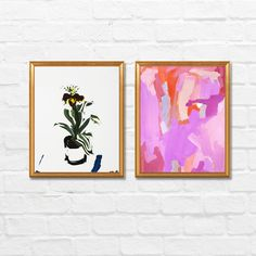 Orchids Gallery Wall by Artfully Walls