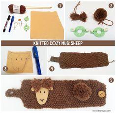 step by step cozy mug #knitting