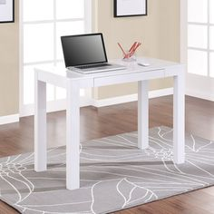 Altra Parsons White Laptop/ Writing Desk | Overstock.com $68.99