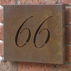 CUTOUT quality custom Corten Rusted Steel laser - cut space screens cut house sign and number
