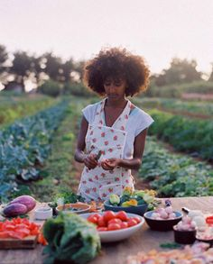 Just a little sunset cooking on the farm with a fabulous fro. Photo by Andrea Wyner.