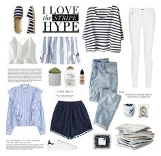 """Stripe Hype"" by anna-lena-als ❤ liked on Polyvore featuring WithChic, Gap, Proenza Schouler, Wrap, Organix, Haze, MAC Cosmetics, Public Library, DK and adidas Originals"