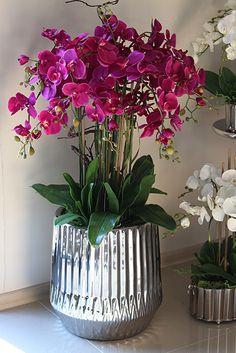 bo w domu najlepiej: Nasz Showroom pod Warszawą Potted Orchid Centerpiece, Orchid Flower Arrangements, House Plants Decor, Plant Decor, Artificial Indoor Plants, Phalaenopsis Orchid, Flowers Nature, Potted Plants, Houseplants
