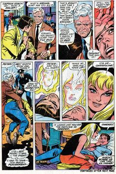 Peter Parker collapses and is comforted by Gwen Stacy (from Amazing Spider-Man #90)
