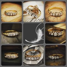 A fabulous collection of some of our antique 5 stone diamond rings available on our website. #antiquejewellery #antiquejewelry #fetherayjewels #diamondring #showmeyourrings #diamond #diamonds #antiqueengagementring #vintagebride #vintagejewelry #marryme #engaged #instagood #lovegold #gold
