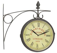 quirky summer dcor old london station wall clock