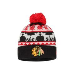 more photos 22ef4 585c2 Mens Chicago Blackhawks New Era Black Mooser Cuffed Knit Hat