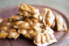 Almond Brittle With Sea Salt via Brit Co