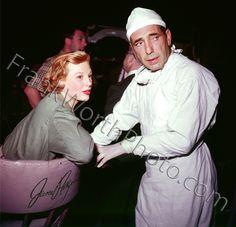 Humphrey Bogart and June Allyson on Set 1953