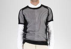Final installment of our Bottega Veneta cruise picks is this futuristic take on a classic. Wear layered over a shirt.
