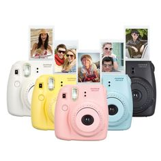Capture life's spontaneous moments with this Fujifilm Instax Mini 8 Instant Camera Bundle. The Fujifilm Instax mini 8 is a basic point and shoot camera that takes instant photos and develops them like an old school Polaroid camera. Instax Mini 8 Camera, Instax Mini 8 Rosa, Fuji Instax Mini 8, Fujifilm Instax Mini 8, Instax 8, Fujifilm Polaroid, Camara Fujifilm, Instant Photo Camera, Photo Bleu