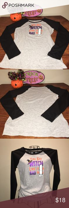 "🎃 Halloween Witch long sleeve tee 🎃 Halloween You say Witch like it's a bad thing, long sleeve tee, size M. 25"" length, 19"" underarm to underarm, 28-1/2"" sleeve. Tops Tees - Long Sleeve"