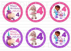 NEW Doc Mcstuffins Digital Cupcake Toppers / Stickers by SDBDIRECT, $3.99