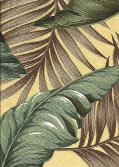 100% Cotton Bark Crepe, 55-57 inch Wide. Softly textured banana leaves float over large-scale palm fronds, muted earthy colors.  Add Discount code: (Pin10) in comment box at check out for 10% off sub total at BarkclothHawaii.com