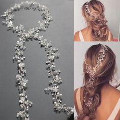 £5.12 GBP - Vintage Pearls Wedding Hair Vine Crystal Bridal Accessories Diamante Headpiece #ebay #Fashion