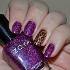 Partly Cloudy With a Chance of Lacquer: Purple and Gold Leopard Print