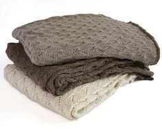 Alpaca Leaf Knit Throw by Samantha Holmes Alpaca Blanket, Alpaca Throw, Alpaca Scarf, Baby Alpaca, Alpaca Wool, Chunky Knitwear, Fortnum And Mason, Knitted Blankets, Knitting Stitches