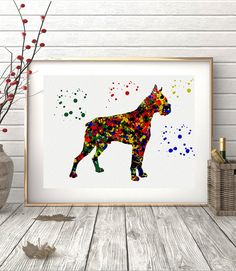 Illustrated by Poster Soul - Boxer Watercolor Poster Art Prints Wall Decor Artworks Wall Art Home Decor Wall Hanging. ► Available A4,A3,A2,A1► Printed on high quality, weather resistant, 220g glossy paper ► No Margin - Borderless Print. ► Print is ready for framing ► Listing is for the poster only - frame / mount and accessories are not included ► All posters are safely packaged in a clear protective sleeve and rolled within a tube to reach you in perfect condition.►Colors may vary…