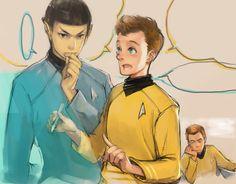 ST-03 by 13JYL.deviantart.com - Spock, Chekov, and Kirk