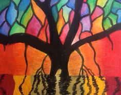 Ohhhhhhh my goodness! This might be my favorite new project! You& probably seen this or a similar Banyan Tree project in Dynamic Art . Square 1 Art, Atelier D Art, 5th Grade Art, Ecole Art, Middle School Art, Art Lessons Elementary, Teaching Art, Student Teaching, Teaching Ideas