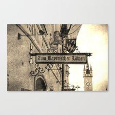Straubing in Retro-Art Canvas Print by helsch photography - $85.00