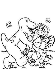 Elegant Barney Coloring Book 87 Print Barney coloring pages